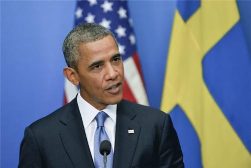 Obama in Sweden