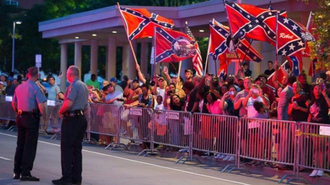 ConfederateflagsgreetObama