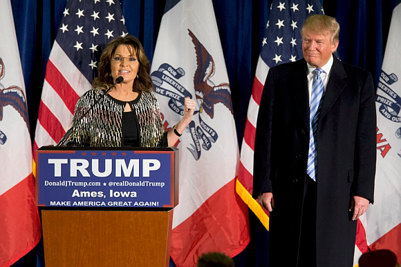 Sarah Palin on the stump for Trump. A Limerick.