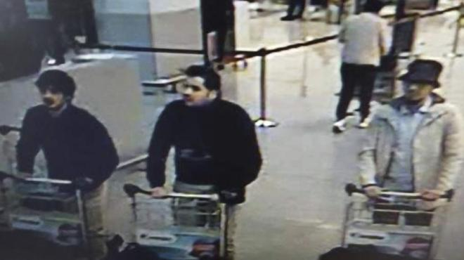 22 Mar 2016, Zaventem, Belgium --- - Attentat à l'aéroport Brussels Airport de Zaventem : les 3 suspects - Aanslag in Brussels Airport: de 3 verdachten 22/3/2016 pict. by Federal Police © Photo News --- Image by © Federal Police/Photo News S.A./Corbis
