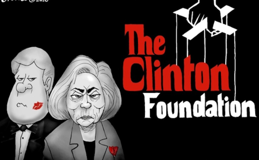 """A charity fraud, the Clinton Foundation"" One more verse to the Hillary Clinton as a nursery fryme."