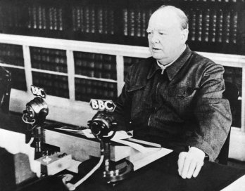 05/13/1940. The British Prime Minister Winston CHURCHILL gave the speech (on the BBC) he just delievered at the House of Commons :