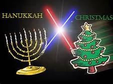 Hannukah and Christmas together, a bond that cannot be severed, a Limerick.