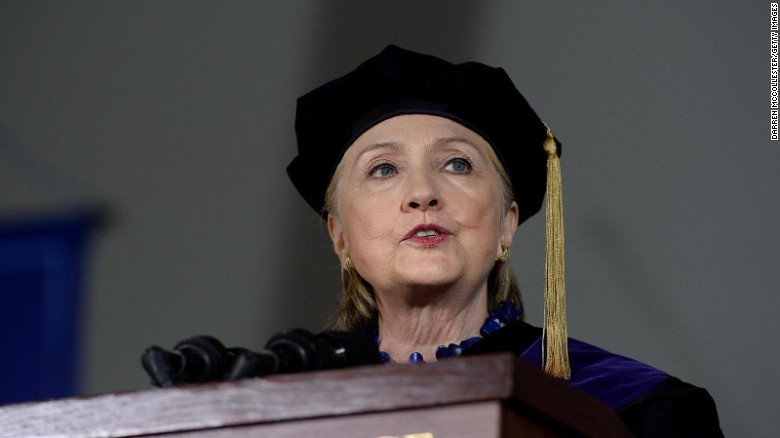 There she lies! Hillary Clinton commencement speech at Wellesley College, a Limerick.