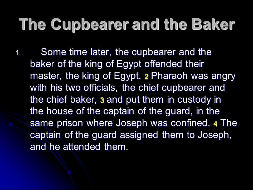 Joseph Is In Prison Dreams Are Prominent The Old Testament