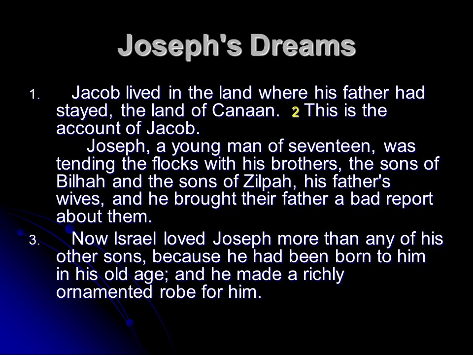 Genesis 37 Joseph S Dreams Joseph Sold Into Slavery
