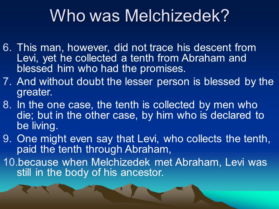 after the order of melchizedek Art bulla the holy order of god, the priesthood after the order of melchizedek last tuesday the holy order of.