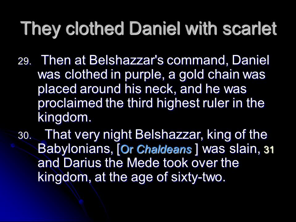 Daniel 5, the handwriting on the wall  – Len Bilén's blog, a