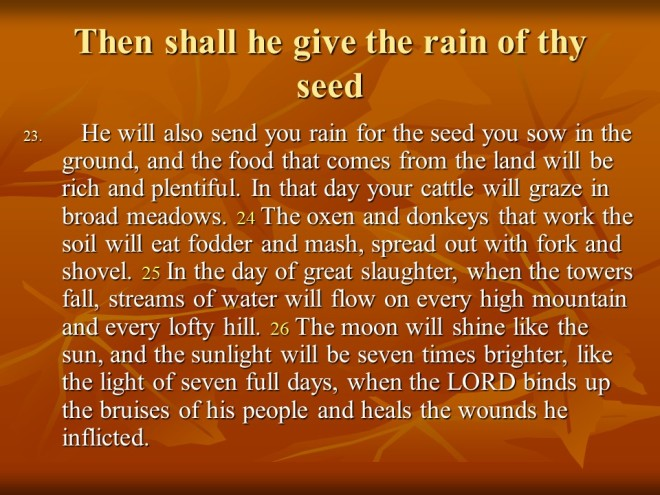 Image result for Then shall He give the rain of thy seed