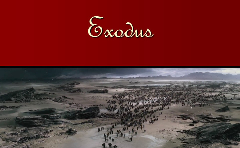Exodus 9, the plague on livestock, the plague of boils, the plague of hail.