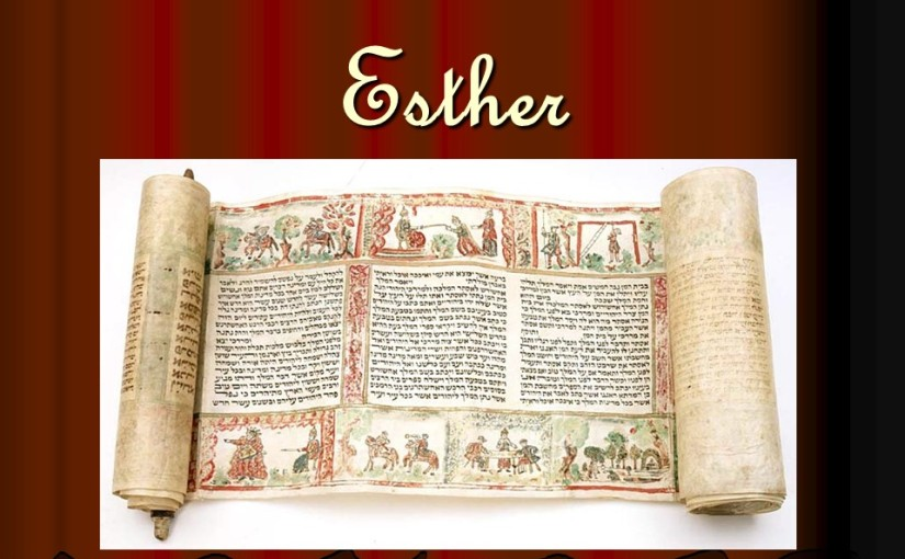 Esther 8, Esther saves the Jews.