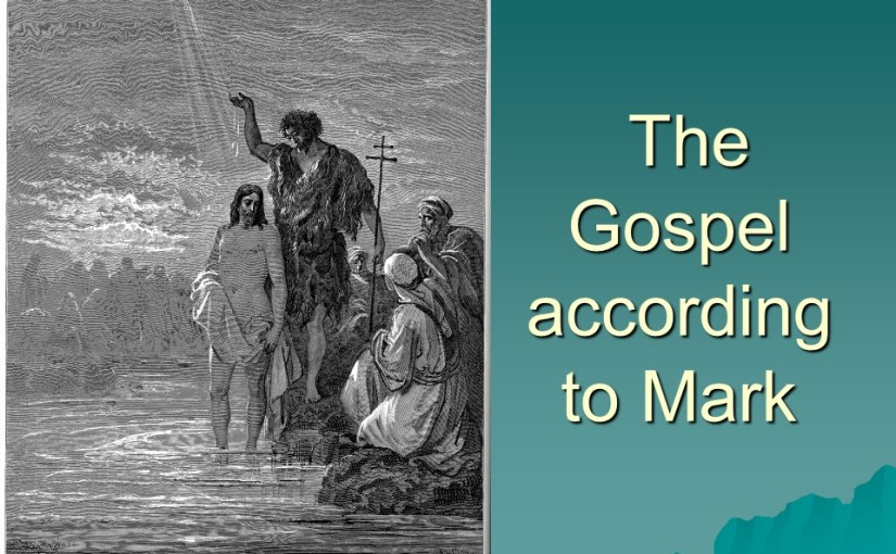 Mark 1, John the Baptist prepares the way, Jesus' Baptism, Temptation, the first Disciples, driving out an evil Spirit, heals many, including a man with leprosy and prays in a solitary space