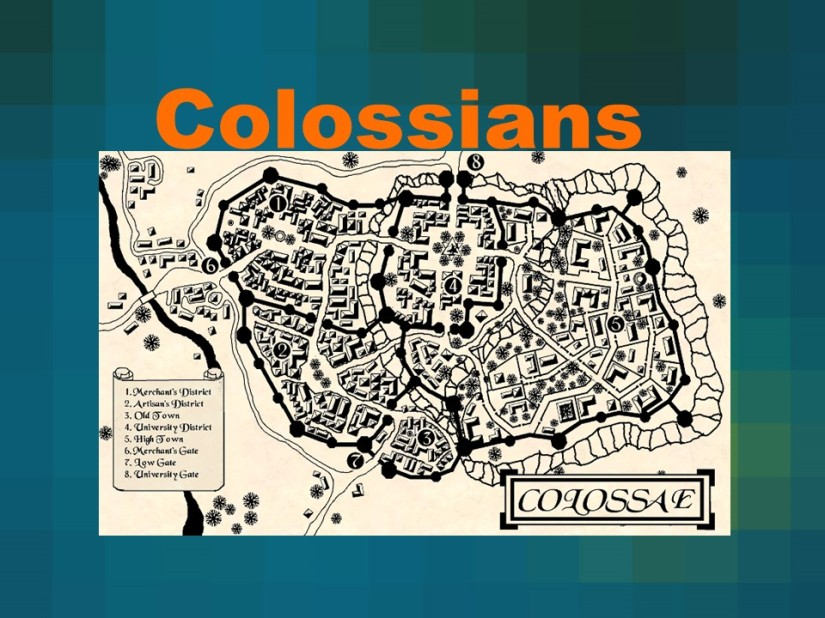 Colossians 1, Greeting, Faith in Christ, Preeminence of Christ, Reconciled in Christ, Sacrificial Service inChrist.
