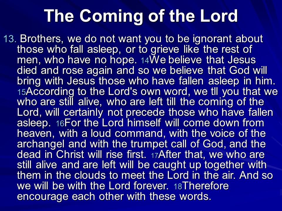 1 Thessalonians4