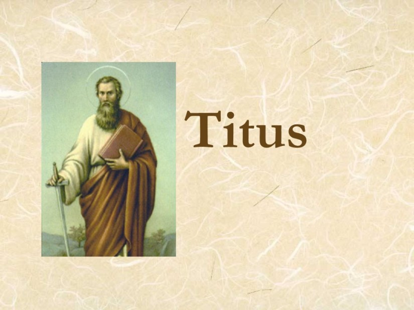 Titus 1, Greeting, Qualifications for Elders, The Elders' Duties.