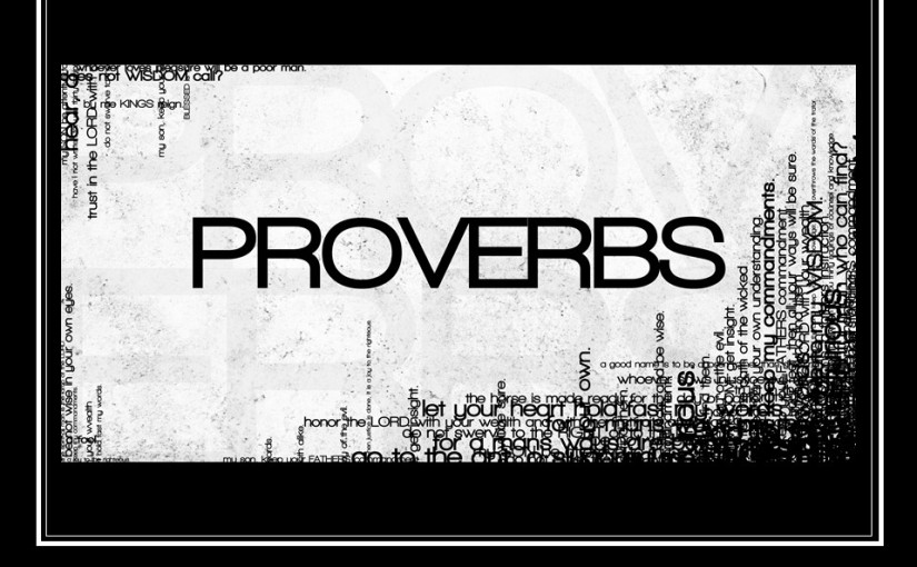 Proverbs 1, The Beginning of Knowledge, Shun Evil Counsel, The  Call of Wisdom.