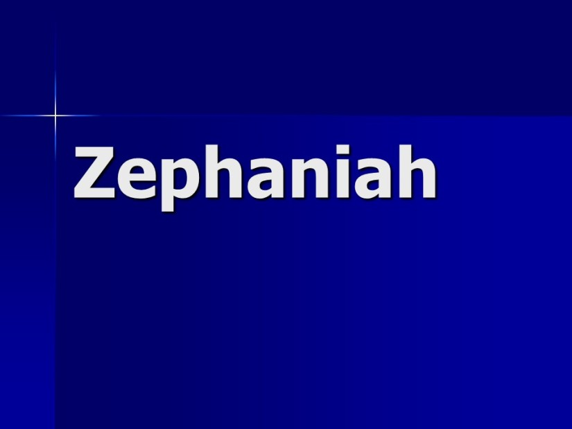 Zephaniah 2, A Call to Repentance, Judgment on Nations.