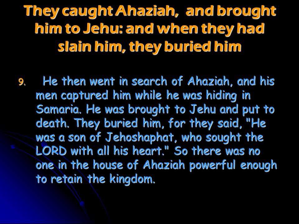 2 Chronicles 22, Ahaziah Reigns in Judah, Athaliah Reigns in