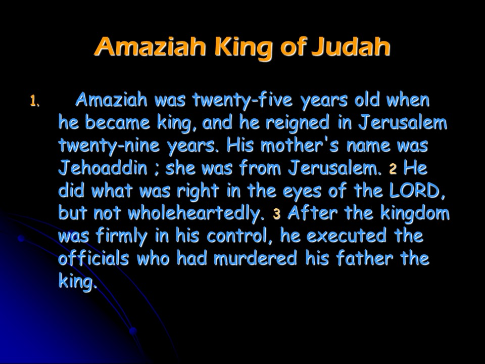 2 Chronicles 25, Amaziah Reigns in Judah, the War against