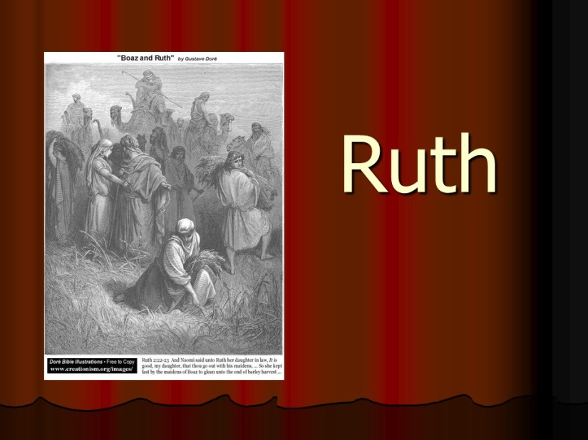 Ruth 4, Boaz Redeems Ruth, Descendants of Boaz and Ruth.